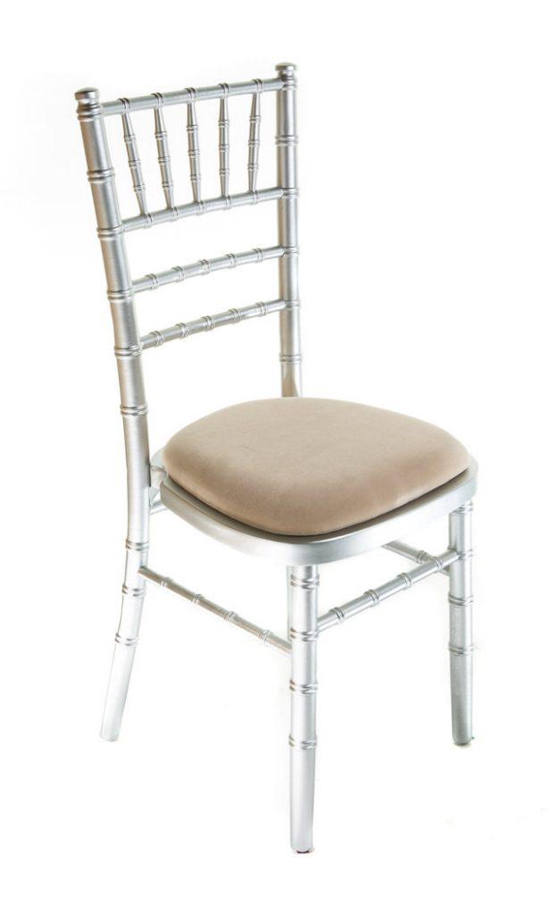 Silver chiavari chair hire - Blue Goose Hire